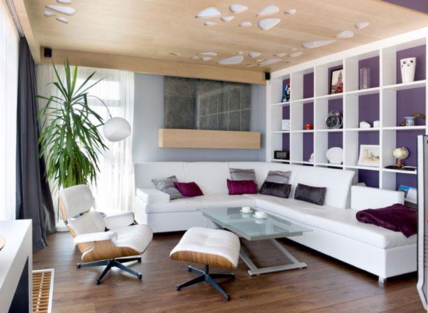 etagere mur mauve