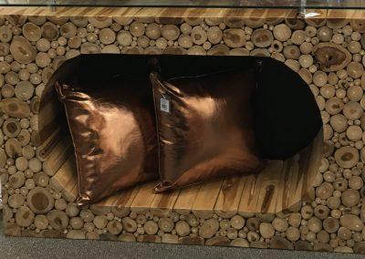 Table console en bois